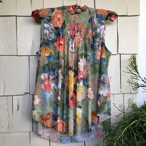 Anthropologie floral Deletta swing blouse